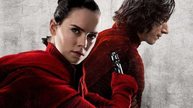 Rey and Kylo Ren from Star Wars: The Last Jedi