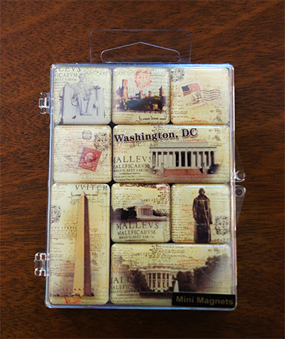 a set of souvenir magnets from Washington, DC